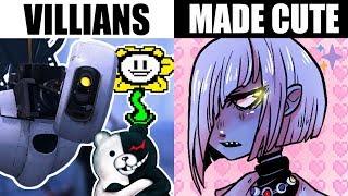 Download DRAWING GAME VILLAINS AS CUTE GIRLS + GUYS [Portal, Undertale, Dangan Ronpa + Minecraft] Mp3 and Videos