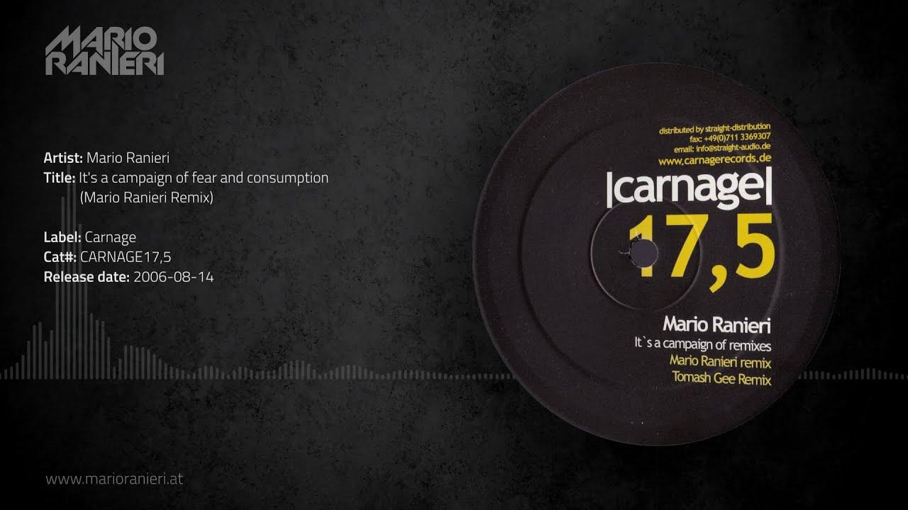 Mario Ranieri - It's a campaign of fear and consumption (Mario Ranieri Remix) 🎵 Official Audio