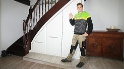 Der Treppenunterschrank entwickelt 2009 by Firma Frind