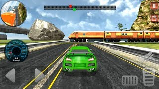 Train Vs Super Car Racing Android Gameplay HD | Racing Vehicles and Cars for Kids