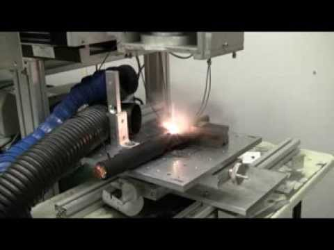 Laser Cable Stripping test in the Applications Lab   CMS Laser