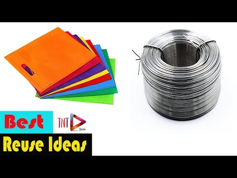 Best out of Waste Carry Bag Crafts | DIY Grass Flowers Using Shopping Bag