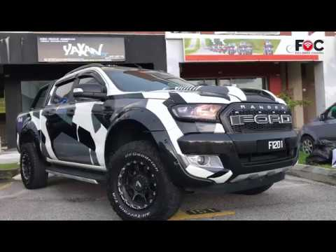 Ford Ranger Camouflage Wrap By Yaxanstyle Youtube