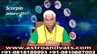 Scorpio - Monthly Astro- Predictions for-January-2017 Analysis by Aacharya Anil Vats ji