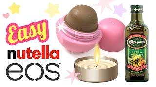 the easiest diy nutella lip balm recipe ever no coconut oil no beeswax diy eos