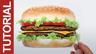 How to Paint a Realistic Hamburger