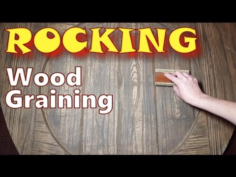 Paint Wood Grain | Faux Wood Grain Techniques | Wood Graining Rocker