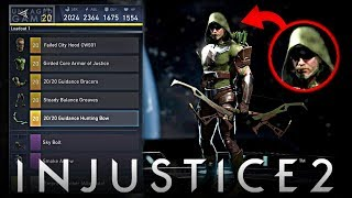 Injustice 2: Green Arrow HOOD Gear in The Game?!