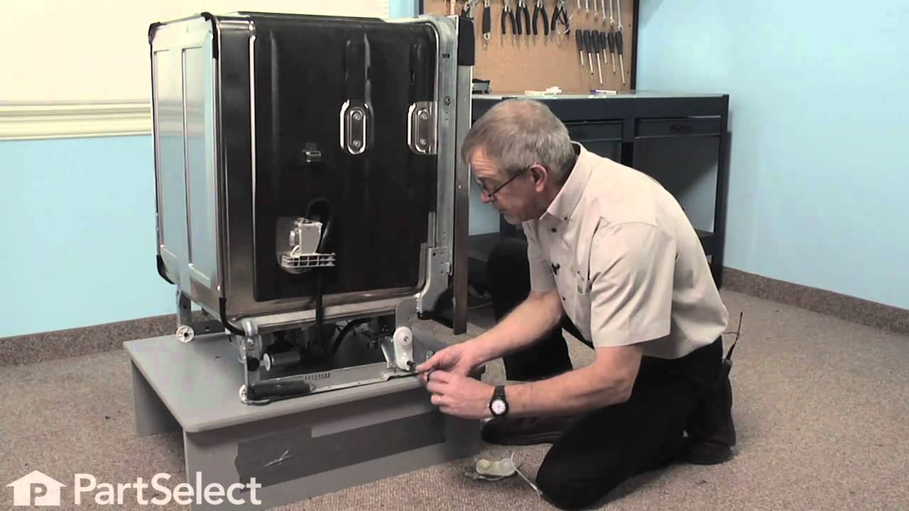 Dishwasher Repair  Replacing The Door Balance Link Kit (Whirlpool Part #  8194001)   YouTube
