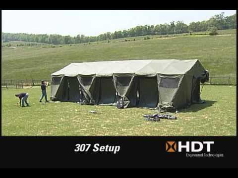 HDT Base-X Shelter Deployment - YouTube