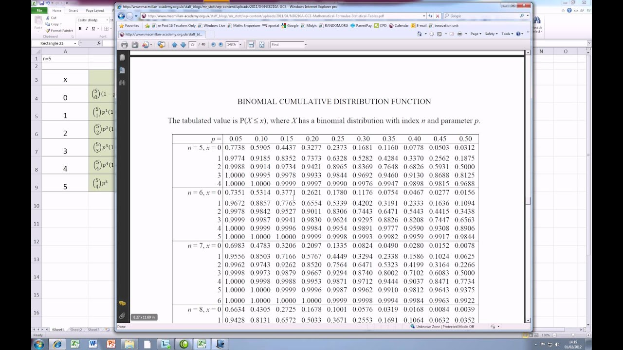 how to create cumulative distribution in excel