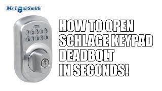 How to Open Schlage Keypad Deadbolt in Seconds!   Mr. Locksmith™ Video