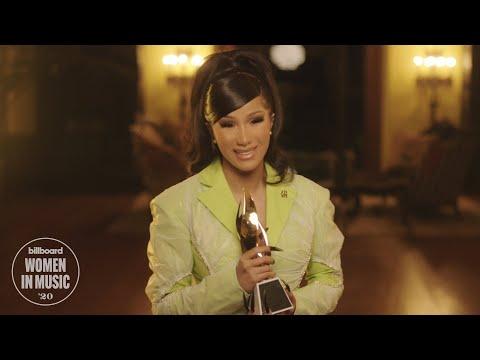 Cardi B Accepts Woman of the Year Award   Women In Music 2020