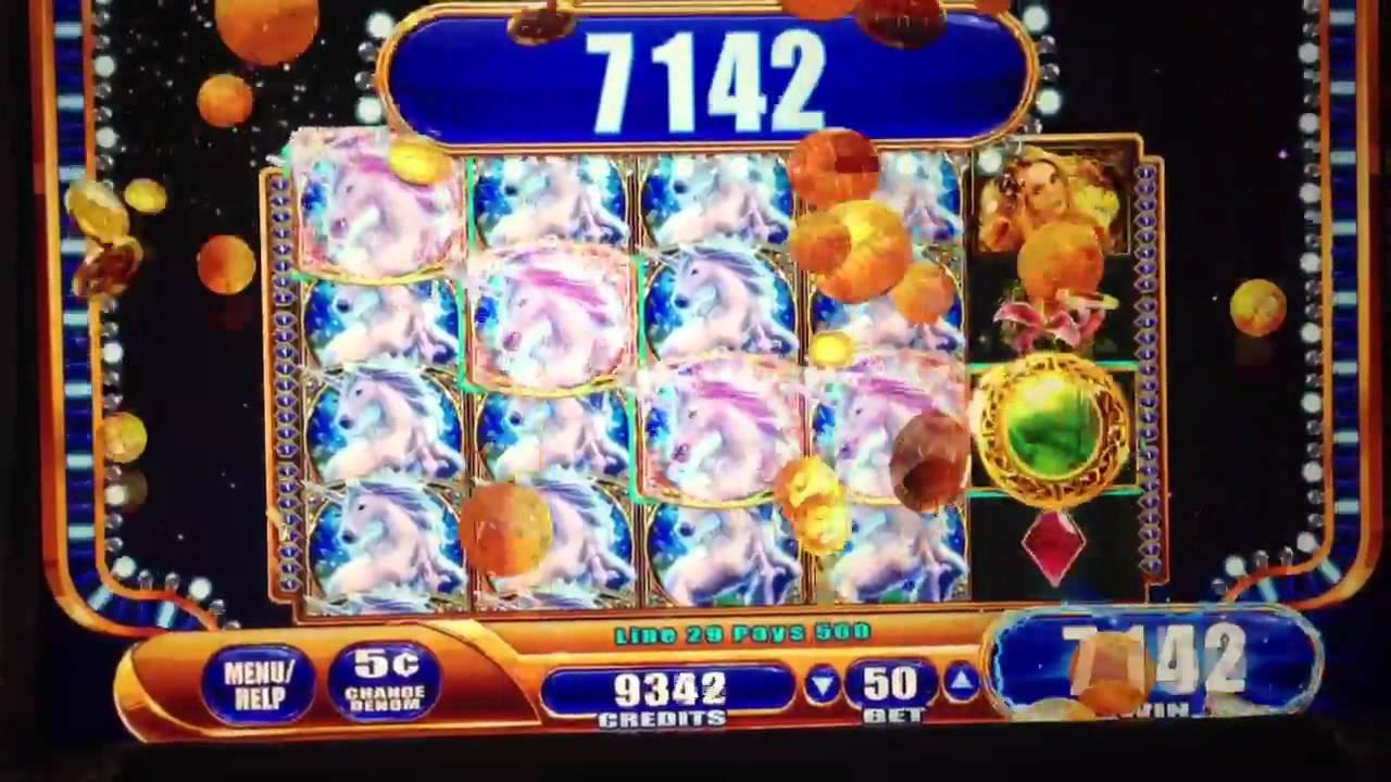 Wms Mystical Unicorn Slot Machine Big Win 5c Youtube