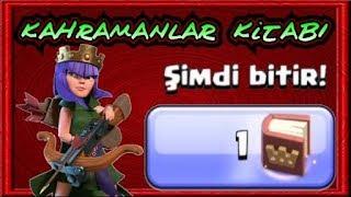 Kahramanlar Kitabını Kullanıp Kraliçeyi 49 Level Yaptım 800 Yeşil  Taşta Cabası | Clash Of Clans
