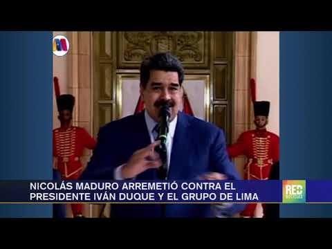 RED+ | Nicolás Maduro arremetió contra el Presidente Iván Duque y el grupo de lima