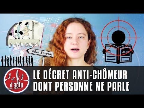 LE DÉCRET ANTI-CHÔMEUR DONT PERSONNE NE PARLE