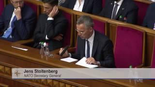 NATO Secretary General address to Parliament of Ukraine, 10 JUL 2017, Part 2/2