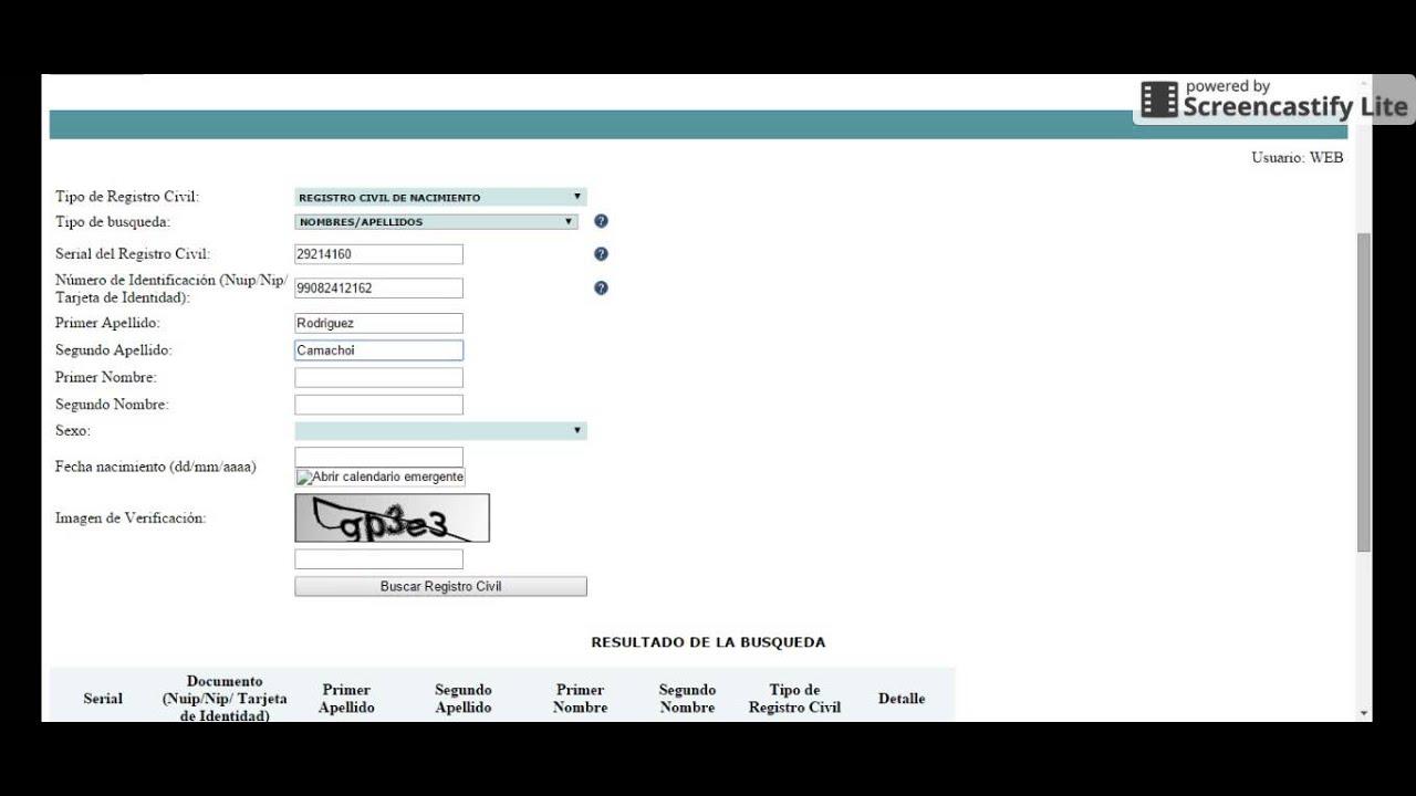 como se obtiene un certificado de registro civil de nacimiento - YouTube