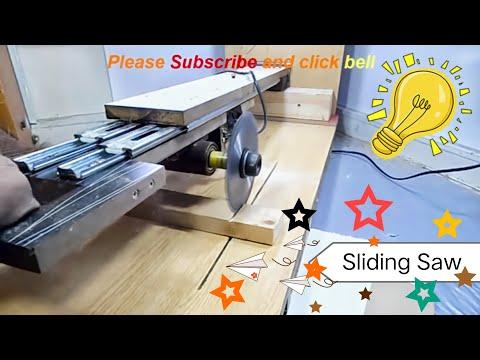 how to make a sliding saw at home , diy sliding miter saw