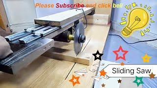 Diy Sliding Saw - How to make Homemade Sliding Miter Saw