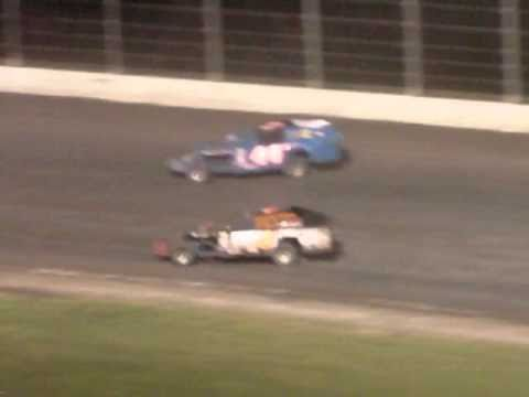 Mike Lunow and Jason Lunow at Dodge City Raceway Park 8-29-2010