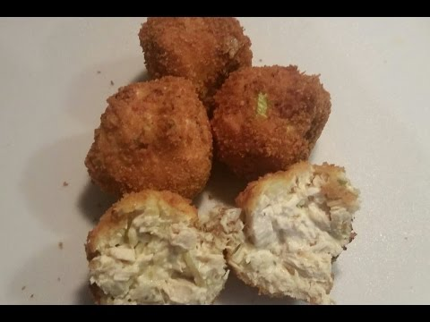 Deep Fried Chicken Croquets with Leftover Pressure Cooker Chicken