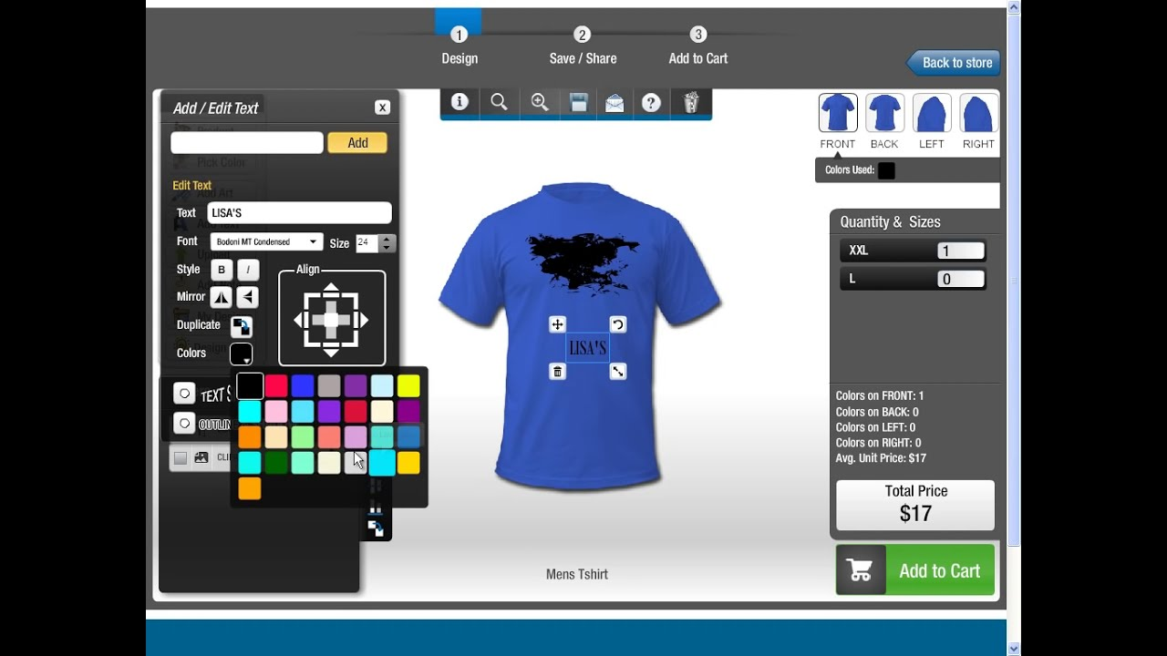 T shirt design software all in one product designer Online clothing design software