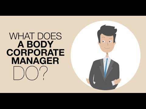 What Does A Body Corporate Manager Do?