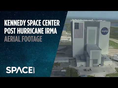 Kennedy Space Center Sustained Damage During Hurricane Irma - Aerial Footage