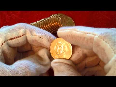 LIVE OPENING ROLL OF WASHINGTON GOLD DOLLARS #1!! ERRORS, VARIETIES, ETC