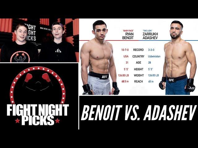 UFC Fight Night: Ryan Benoit vs. Zarrukh Adashev Prediction