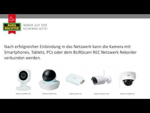 SANTEC BURG WÄCHTER WLAN Kamera BURGcam WPS Anleitung Tutorial