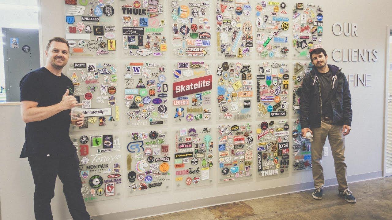 Visiting die cut stickers