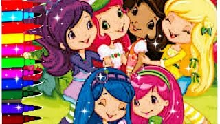 Strawberry Shortcake Berry Best Friends Coloring Pages Strawberry Orange Blueberry Raspberry Lemon Youtube