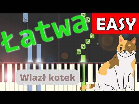 🎹 Wlazł kotek na płotek - Piano Tutorial (łatwa wersja) 🎹