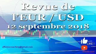TRADER FOREX - EUR/USD - Le Trade du jour – 12 septembre 2018