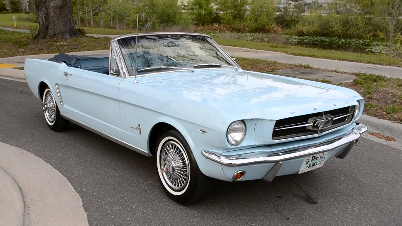 1964 1 2 ford mustang convertible for sale youtube. Black Bedroom Furniture Sets. Home Design Ideas