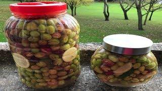 How to preserve olives - lebanese recipe - زيتون مخلل على الطريقة اللبنانية