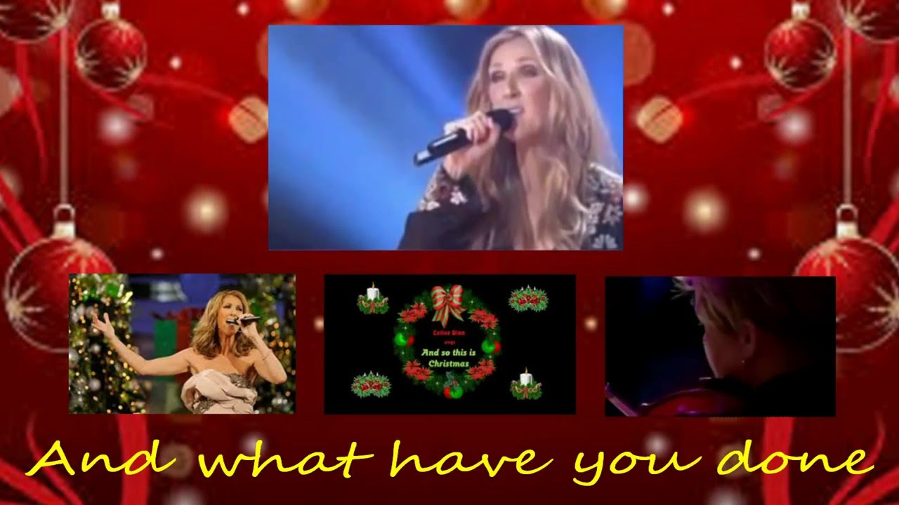 Celine Dion So This Is Christmas With Lyrics Youtube