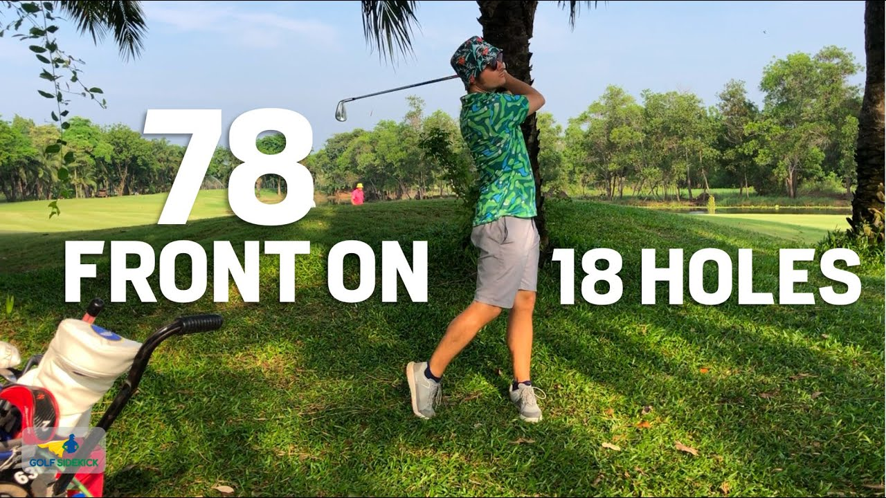 Front-On View 18 Holes - If you hit it long, wedges are MORE important