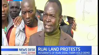 Ruai residents protest accusing  police officers of harassment in their land
