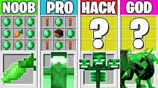 Minecraft Battle: EMERALD MONSTER CRAFTING! NOOB vs PRO vs HACKER vs GOD in Minecraft Animation