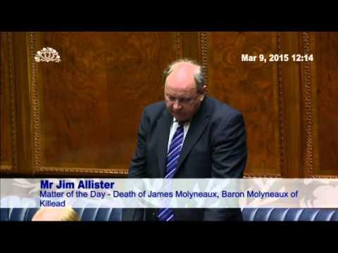 MLAs Pay Tribute to James Molyneaux, Baron Molyneaux of Killead
