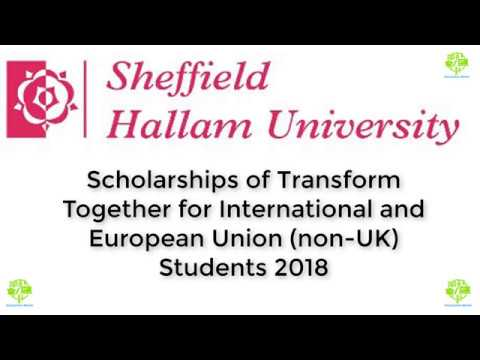 Scholarships of Transform Together for International and European Union non UK Students 2018
