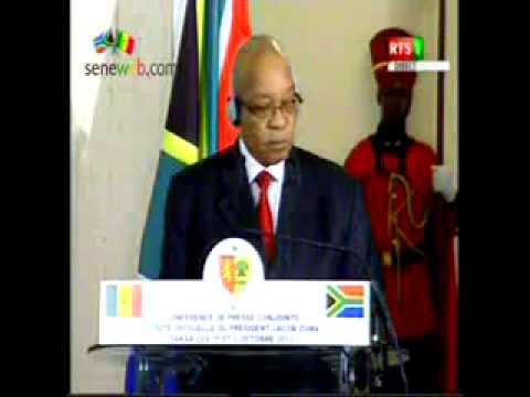 Jacop Zuma en visite à Dakar Discours du President Sall