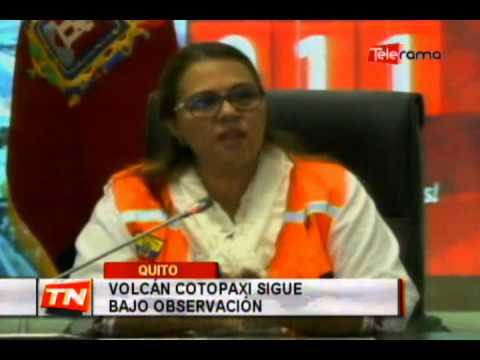 Volcán Cotopaxi sigue bajo observación
