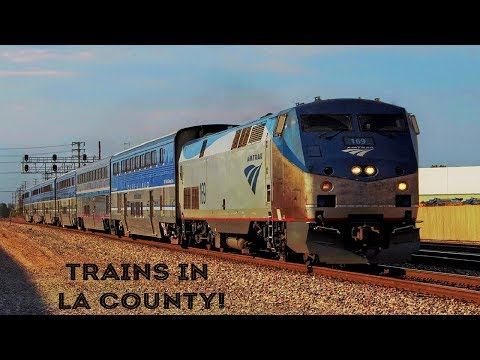[HD] Trains all throughout the Los Angeles County!