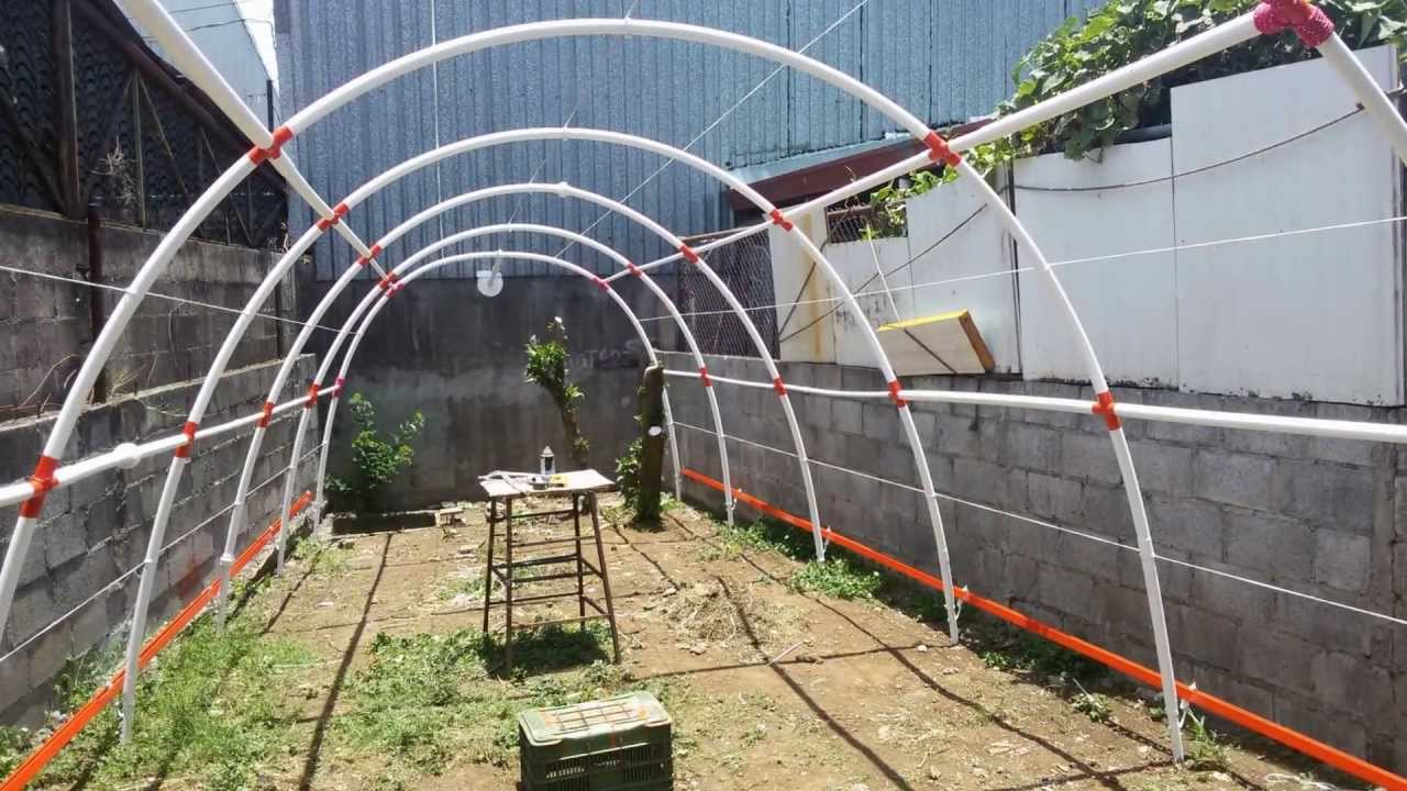 Hidropon a invernadero de tubo pl stico pvc costa rica - Como hacer invernadero casero barato ...