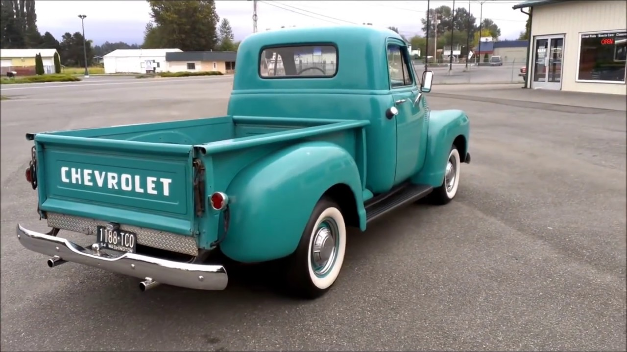 1954 Chevrolet 3600 Pickup Youtube Pick Up